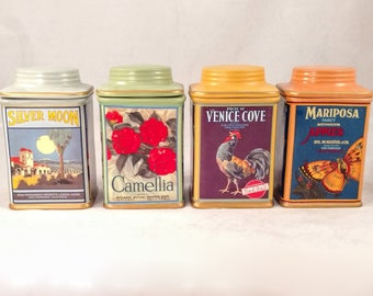 Oneida Vintage Label Collection Canisters,. Set of 4