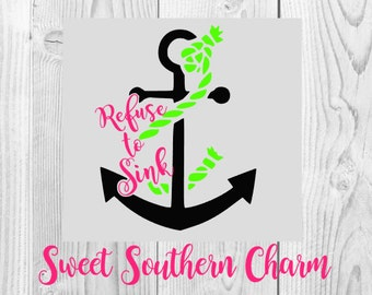 refuse to sink svg - anchor svg - anchor svg file - anchors svg - verse svg - bible verse svg - svg file - svg files - vector graphic - file