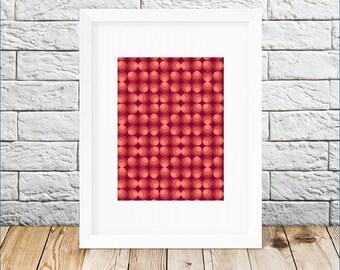 Circle print - Geometric art  - Abstract Circles printable - Geometric print - Pattern print - Home wall art - Digital download printable