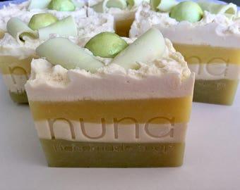 Avocado Creamy Soap, Handmade Soap, Coconut milk soap, Palm free