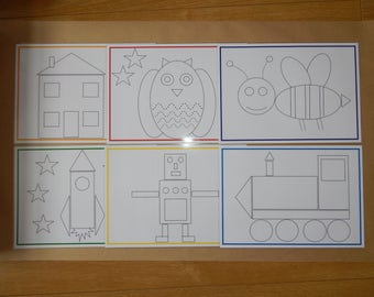 Tracing Pictures - Pen control, handwriting practice, EYfS, Early Learning, Toddlers, SEN, Toddlers, Nursery