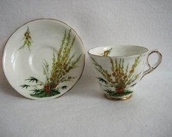 Royal Stafford BROOM Tea Cup & Saucer