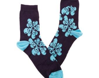 music socks, G-clefs, fun socks,purple socks, women socks, casual socks, cool socks, gift socks, cotton socks, made in EU socks