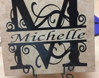 Personalized Tile with stand