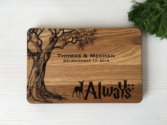 Personalized cutting board,Harry Potter board,Harry Potter gift,Gift for couple,Wedding gift,Harry Potter wedding,Housewarming gift