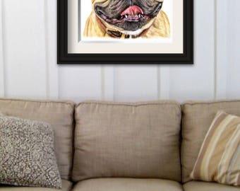 Fine art Print - 'French Bull dog'