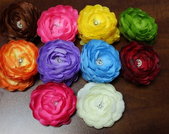 Layered Flower Hair Clip with Alligator Clip, 1.00 each or all 18 for 15.00,  FLAT Rate Shipping 5.00 or FREE Shipping over 25.00