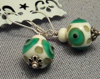 EARRINGS with lampwork beads !lampwork!