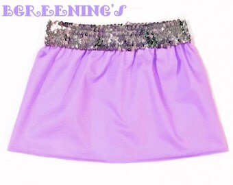 Lylac purple, Sequins Skirt, Sizes Newborn to Girls, Baby Skirt, Toddler Skirt, Girls Skirt, Children's Clothing, Multi-Colored, Solid