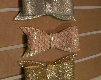 Dainty bow headband set of 3.