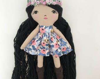 Mini Doll Rag Doll Cloth Doll Fabric Dolls Fabric Doll Rag Dolls Cloth Dolls Handmade Cloth Dolls Heirloom Doll Dolls Handmade Doll