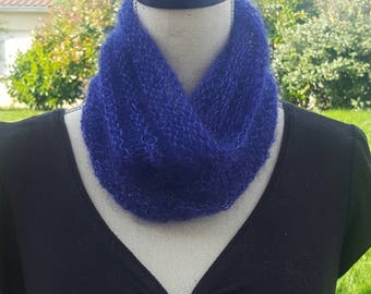 Soft mohair and silk Snood