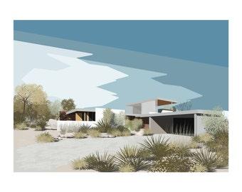 Poster 50 x 70 poster graphic design illustration Architecture & Landscape S01