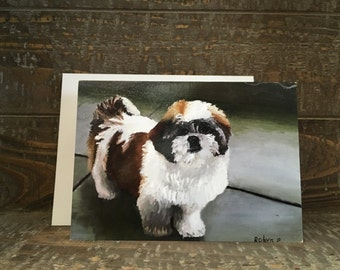 Note Card - Shih Tzu