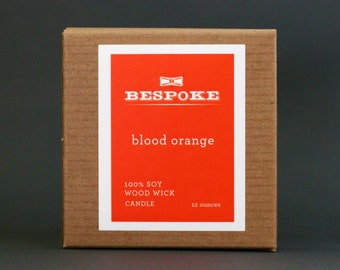 Blood Orange : Wood Wick Soy Candle