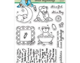 Penny Black Sweet Beginnings Acrylic Stamp