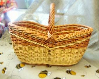 France Basket France Market Basket Wicker Bag Wicker Purse