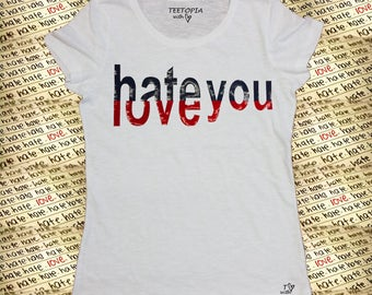 LOVE HATE - t-shirt donna
