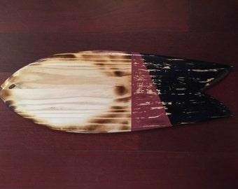 Well Loved Fish Surfboard Wall Art