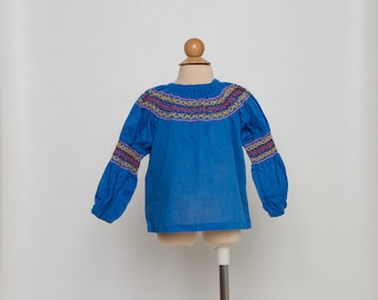 vintage girl's embroidered Mexican top
