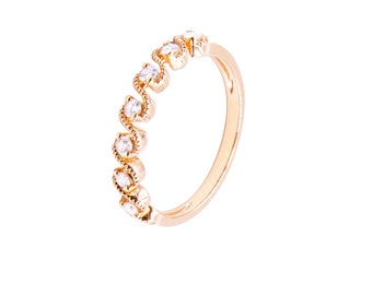 pink diamond gold ring