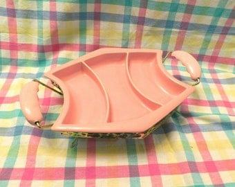 Pink Vintage Serving Dish MIRAMAR of California 1950s
