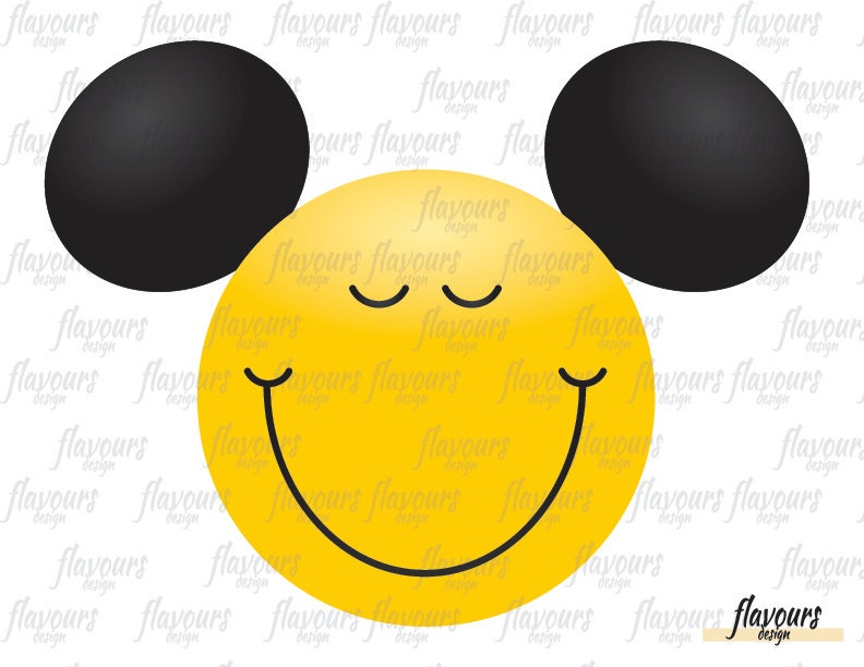 mickey mouse happy face emoji instant download disney