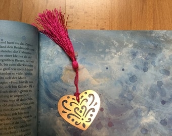 Bookmark with heart