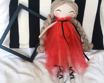 Handmade doll / rag doll / handmade doll / baby shower / heirloom doll / art doll