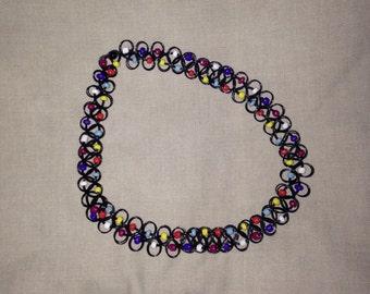 Beaded Embellished Cute 90s Clueless Grunge Festival Tattoo Choker Necklace