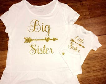 Little sister big sister matching shirts // matching sister outfits // big sister // little sister
