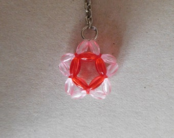 Handmade Beaded Key Ring - Star