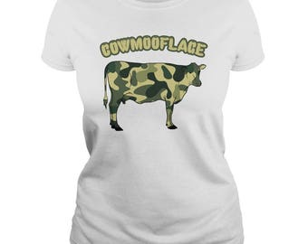 COWMOOFLAGE T-SHIRT.cow t-shirt,cow lovers tee,dairy farmers t-shirt,cow farmer t-shirt,love cows t-shirt,milk t-shirt,cow gift tees,cow tee