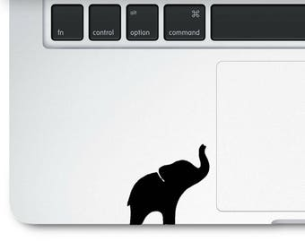 Elephant decal, baby elephant decal, cute little elephant decal, elephant love decal, laptop decal, car decal, water bottle decal,