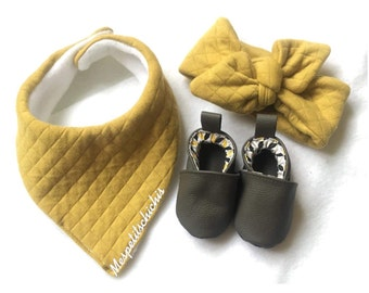 Kit booties bib and headband