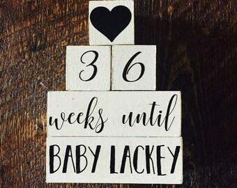 Baby countdown blocks
