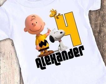 Charlie Brown Party custom designed birthday t shirt tshirt personalized