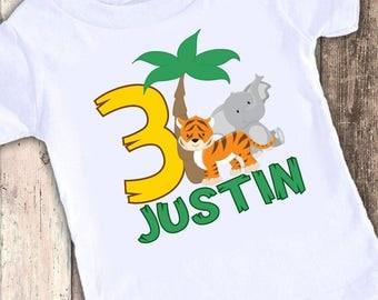 Jungle Safari 2A Kids custom t shirt tshirt personalized