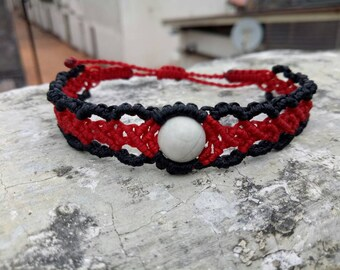 Beautiful macrame bracelet with marble stone