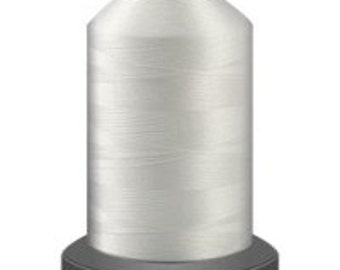 white thread, glide trilobal polyester no 40, Tex 27, sewing thread, quilting thread, 1000m cone