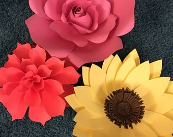 Paper Flowers - Sets of 6