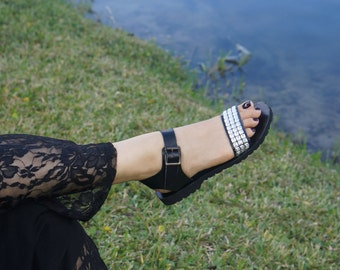 ANDALUCIA. Handmade Leather Sandals /Women's Shoes /Comfort Birk Sole Sandal /Boho Chic Shoes. Sizes 6-11