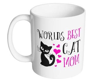 Worlds Best Cat Mom Mug - 11oz Mug - Mug King