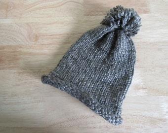 Hand Knit Brown Women's Hat