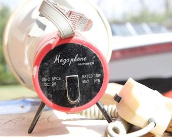 SALE! 25% discount. Megaphone, Vintage