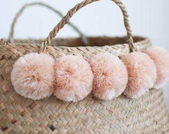 Blush Pompom Baskets - Belly Basket