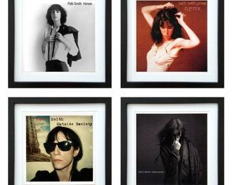 Patti Smith - Framed Album Art - Set of 4 Images