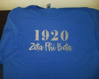Glitter Zeta Phi Beta Shirt