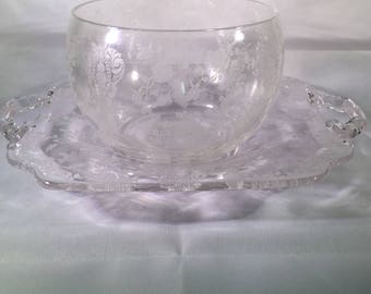Cambridge Rosepoint Condiment Bowl with Tray