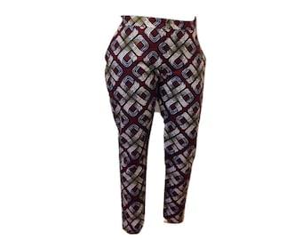 Elegant Ladies Print Pants